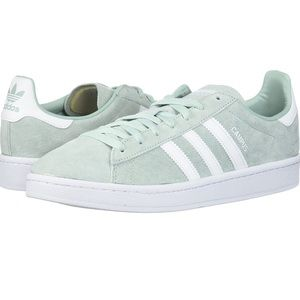 Mint Green suede adidas Campus shoes 8.5
